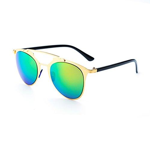 J8028 eye mujer hombre cat Amarillo Jee Gafas sol Verde de ngYU0w
