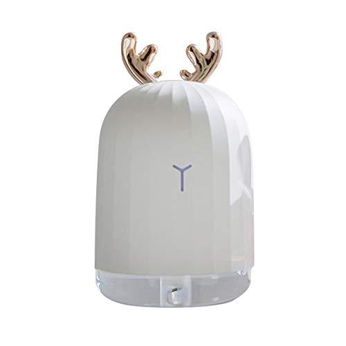 ラブリーウサギ 鹿 加湿器 卓上 オフィス USB アロマ おしゃれ 超音波 手入れ簡単 コンパクト ミニ 静音 (WHITE)