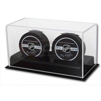 Deluxe Acrylic NHL Double Hockey Puck Display Case by BCW (Nhl Hockey Puck Display Case compare prices)