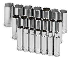 SK 1947 21 Piece 1/2-Inch Drive 6 Point 10-Millimeter to 32-Millimeter Deep Socket Set