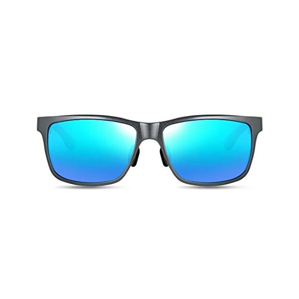 ATTCL Men's Hot Retro Driving Polarized Wayfarer Sunglasses Al-Mg Metal Frame Ultra Light