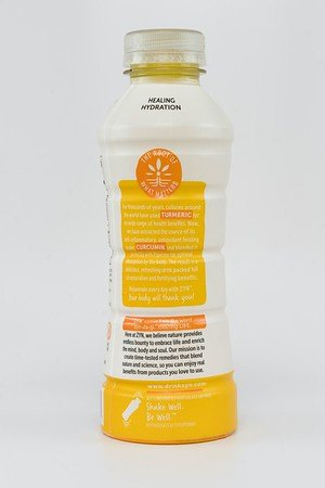 ZYN Turmeric from Curcumin Health Drink (Lemon Ginger Flavor: 16 fl oz - 12 Bottles per Case). Over 200 mg of Curcumin in Each Bottle Plus Black Pepper Extract to Improve Absorbancy