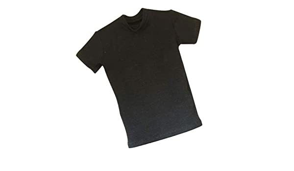 1//6 Grey Loose Round Neck Short T-Shirt Tops for 12/'/' Male Action Figure