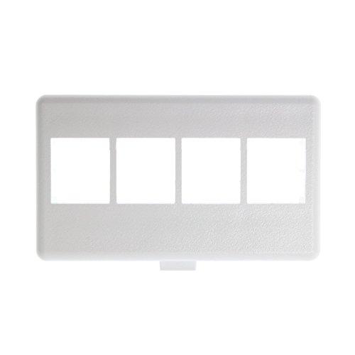 - Panduit NK4MFWH 4-Port Modular Furniture Faceplate, White