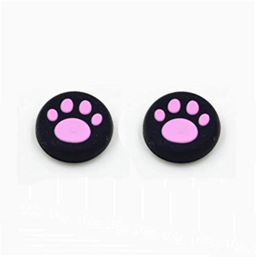 Thumb Grips Silicone Thumb Stick Caps for PS3 /PS4/PS2/Xbox One/Xbox 360 /WII (Pink)