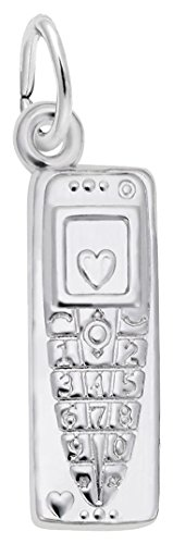 Rembrandt Cell Phone Charm - Metal - Sterling Silver