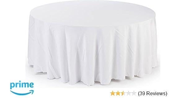 Amazon Com 12 Pack 84 Round Table Cover Premium Plastic Tablecloth