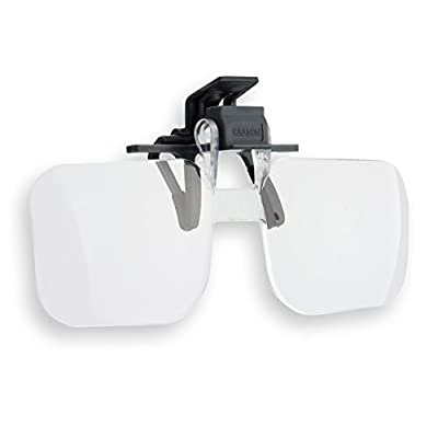 Carson Clip and Flip 2x Power Magnifying Lens +4.00 Diopters (OD-14) : Sports & Outdoors