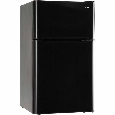 3.2 Cubic Feet 2-Door True-Freezer Compartment, Refrigerator, Black by True Decor