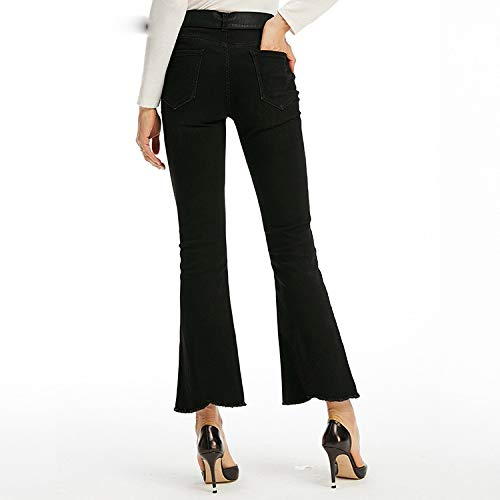 Taille leichte Stretch Femme Jeans Taille hohe Taille MVGUIHZPO Lama Micro S Micro Jeans Hose neun XqYgwY