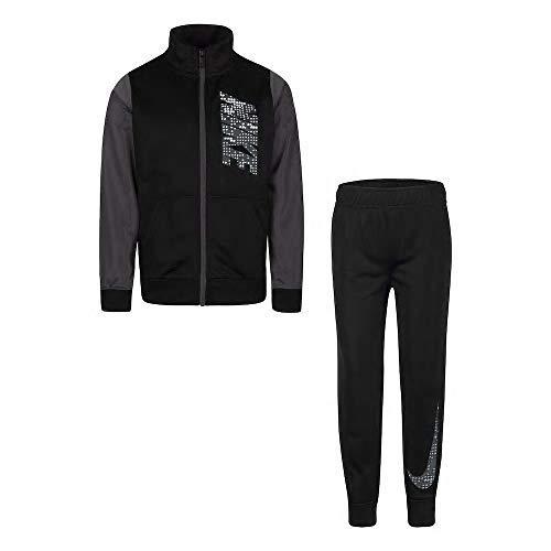 - Nike Boy's Futura Tricot Jacket and Pants Set (Black (86E274-023) /Anthracite/White, 5)