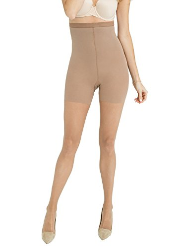 (SPANX High-Waisted Luxe Leg Sheers, Nude-03, D)
