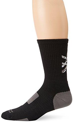 ASICS Flash Point Socks, Black/Athletic Grey, X-Large