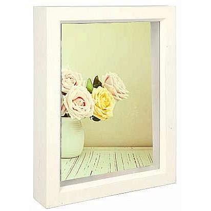 Dennis Daniels Wood Treasure Box Picture Frame, 5 x 7 Inches, Bright White]()
