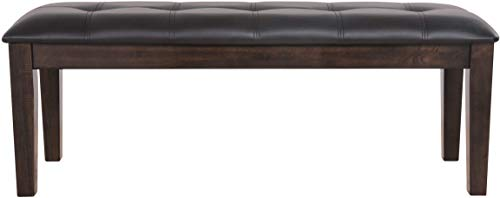 Ashley Furniture Signature Design - Haddigan Upholstered Dining Room Bench - Casual Tufted Seating - Dark Brown (Bedroom Set Ashley Furniture Instructions)