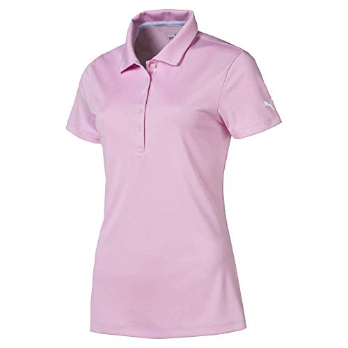 Puma Golf Women's 2019 Pounce Polo, Pale Pink, Medium (Shirt Golf Puma Ladies)