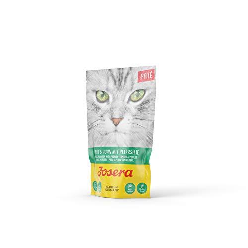 JOSERA Paté Ente & Huhn mit Petersilie (16 x 85 g) | getreidefreies Katzenfutter mit Lachsöl | Super Premium Nassfutter…