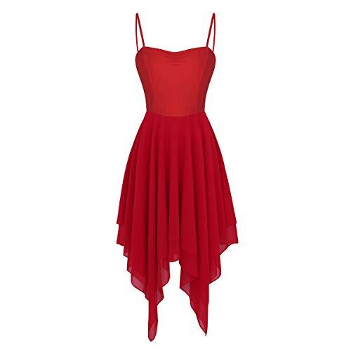 Gimnasia Baile Ballet Mujer Agoky Leotarto Gasa Elástico de Vestido Ropa Falda Maillot Clásico de Rojo de Traje Danza 1qFEEYOw