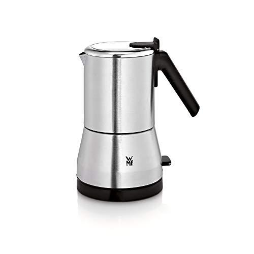 WMF Küchenminis Edition – Cafetera eléctrica para 2 o 4 tazas, ahorra espacio, 400 W, cromargan mate/plata
