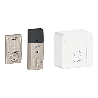 Schlage Sense Smart Deadbolt with Century Trim Satin Nickel (BE479 CEN 619) with Wi-Fi adapter (B074VZ5N46) | Amazon price tracker / tracking, Amazon price history charts, Amazon price watches, Amazon price drop alerts