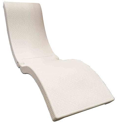 SwimWays Terra Sol Sonoma Chaise Lounge - White (White Chairs Pool)