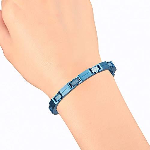 - CTRCHUJIAN Men Bracelet Casual Stainless Steel Black Rose Gold Silver Wrist Charm Chain for Male Magnetic Bracelets for Men