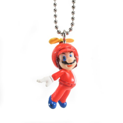 New Super Mario Brothers WII Mascot Keychains - Propeller Mario (Keychain Figure Mario)
