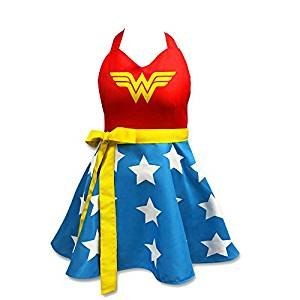 T-shirt Woman Wonder Awesome - ICUP DC Comics Wonder Woman Fashion Apron,Multicolor,Standard