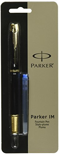 Parker IM Black with Golden Trim, Fountain Pen, Medium nib (1760799)