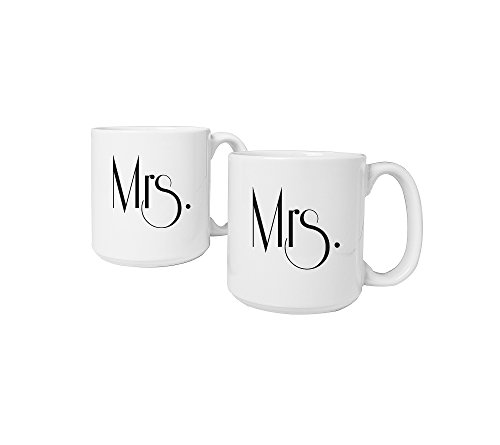 Cathy's Concepts Mrs. & Mrs. Gatsby Large Coffee Mugs by Cathy's Concepts