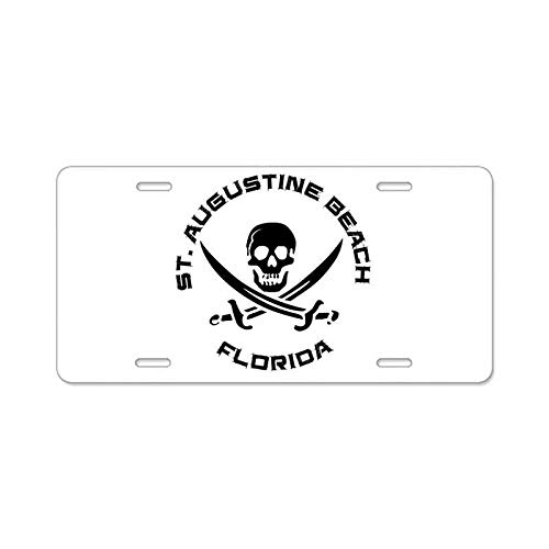 AhuiA-Florida St. Augustine Beach Custom Personalized Aluminum Metal License Plate Cover Front Auto Car Accessories Vanity Tag- 6x12 Inches -