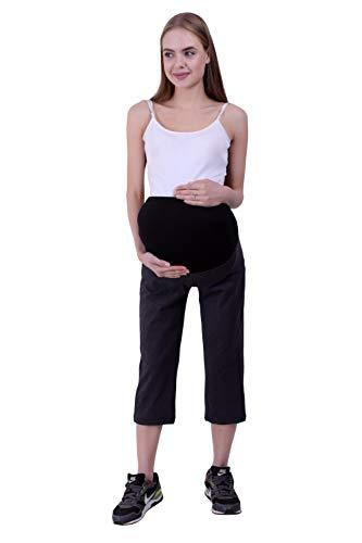 Maternity Denim Capri Black