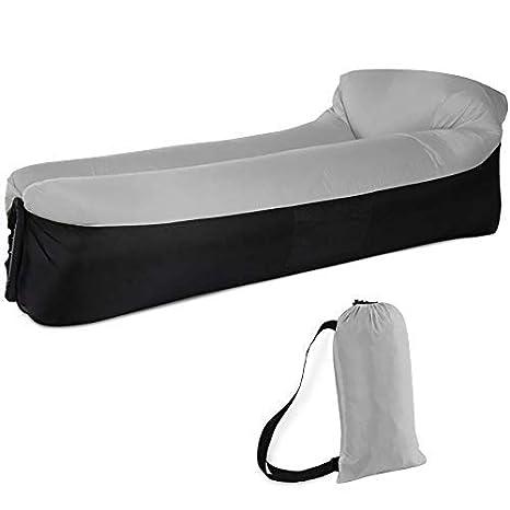 Sofa Hinchable con almohada integrada y bolsa, tumbona ...