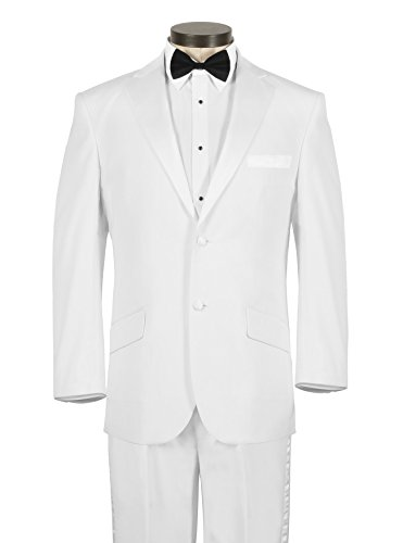 Modern Fit Tuxedo - White, 46 Long by House of St. Benets