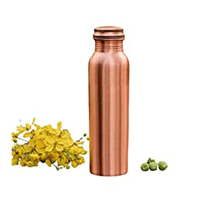 ACTINIC Flame Plain Matt Copper Water Bottle with New Stylish and Advanced Leak Proof Cap -Copper Bottle