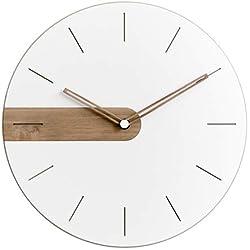 Stephanie Imports Modern Minimalist Raw Wood (Numberless) Wall Clock