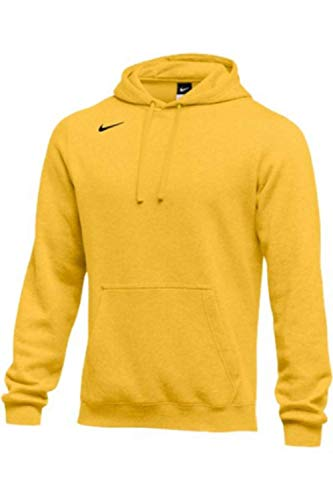 - NIKE Men's Pullover Fleece Club Hoodie (XX-Large, Bright Gold)
