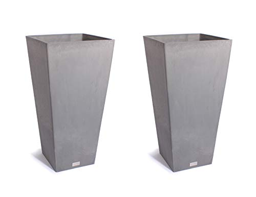 Veradek Midland Tall Square Planter - Charcoal- 28 in.-2 ()