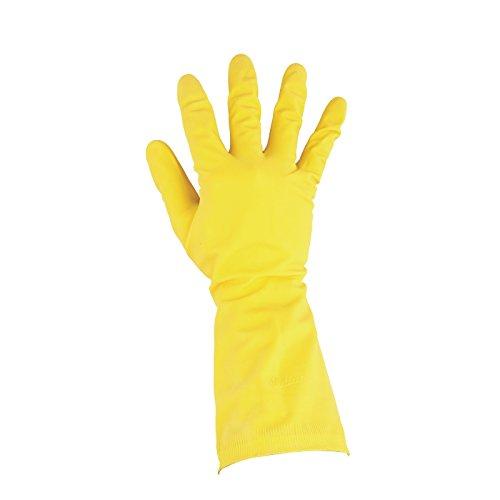 家庭用手袋イエロー。サイズL(8.5-9)。 B00BM8GNIC