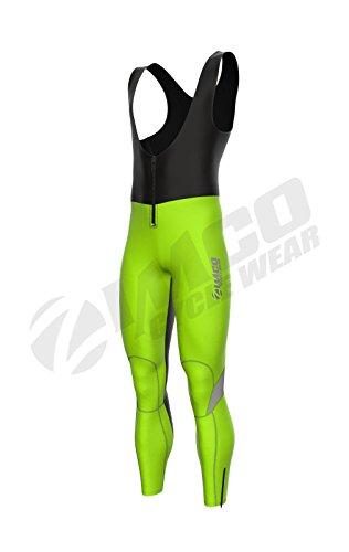 Zimco Pro Cycling Softshell Bib Tight Windproof Bike Thermal HIVIZ Bib Pant (Pro Bib Tights)