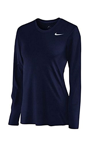 Nike Womens Dri-Fit Fitness Workout T-Shirt Navy XL