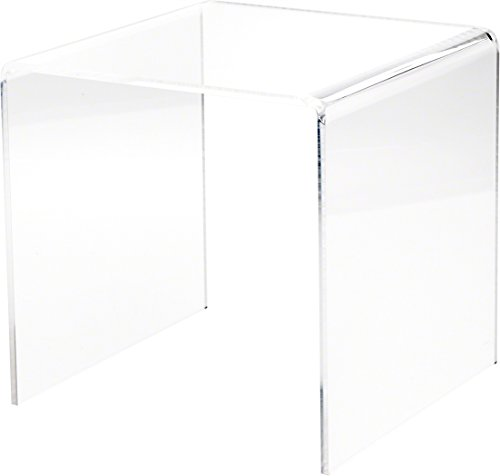 Plymor Clear Acrylic Square Display Riser, 9 H x 9 W x 9 D 1 4 Thick