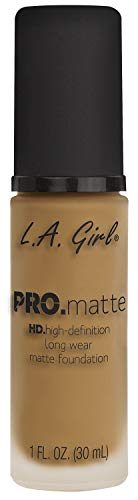 - L.A. Girl Pro Matte Foundation, Sand GLM678, 1 Fluid Ounce