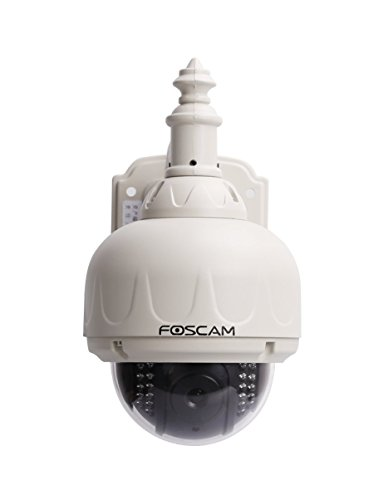 Foscam FI8919W Outdoor Wireless Pan/Tilt IP Camera with IR-Cut Off Filter for TRUE COLOR Images (Not Washed Out), Auto-Iris (Auto-Brightness Adjustment), IP66 Waterproof Enclosure, Synology & Blue Iris Compatible, Pan 355° Tilt 80°, White (Blue Iris Foscam compare prices)