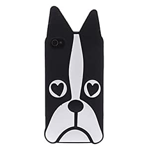 MOM ships in 48 hours Black Dog Pattern Soft Case for iPhone 4/4S
