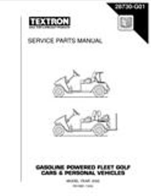 EZGO 28730G01 2002 Service Parts Manual for Gas TXT Fleet and Freedom Vehicles by EZGO