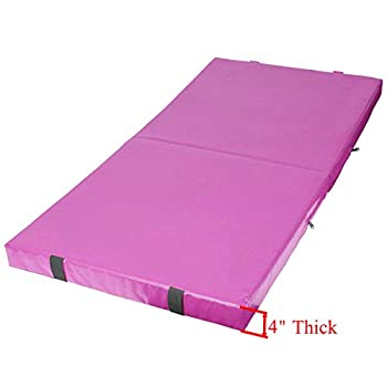 Image of Exercise Mats gymmatsdirect Gymnastics Mat Folding Tumbling Exercise Mat - 2' 4' Thick Folding Gym Aerobics Mats Kids Home Yoga Mat, Multiple Color/Size Choice
