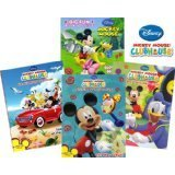 Mickey Mouse Coloring Book Set (4 Books, Assorted Titles)