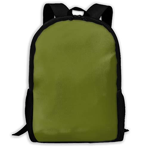 Backpack Water Resistant Men Women Hiking Daypack Avocado Med Green Solid_1378 Travel Backpack