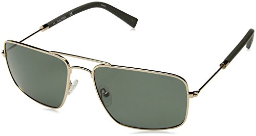 Nautica Men's N4632sp Polarized Aviator Sunglasses, GOLD, 59 mm